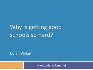 Why is getting good schools so hard?