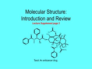 Molecular Structure: Introduction and Review Lecture Supplement page 3