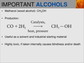 IMPORTANT  ALCOHOLS