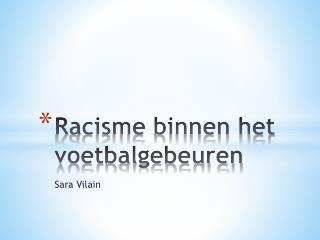 Racisme binnen het voetbalgebeuren