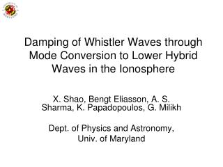 Damping of Whistler Waves through Mode Conversion to Lower Hybrid Waves in the Ionosphere