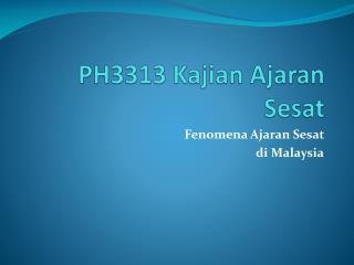 PH3313 Kajian Ajaran Sesat