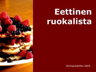Eettinen ruokalista