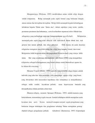 33 Mangunwijaya  (Widyana,  1995)  membedakan  antara  istilah  religi  dengan