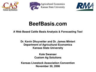 BeefBasis A Web Based Cattle Basis Analysis & Forecasting Tool