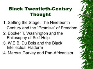 Black Twentieth-Century Thought
