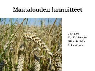 Maatalouden lannoitteet