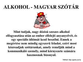 ALKOHOL - MAGYAR SZÓTÁR