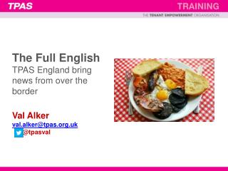 The Full English  – vital ingredients