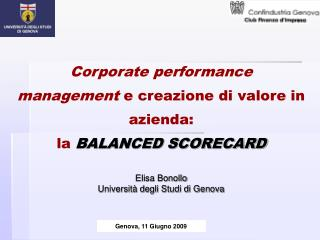 Corporate performance management  e creazione di valore in azienda: la BALANCED SCORECARD