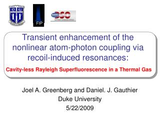 Transient enhancement of the nonlinear atom-photon coupling via recoil-induced resonances: