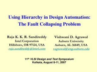 Using Hierarchy in Design Automation: The Fault Collapsing Problem