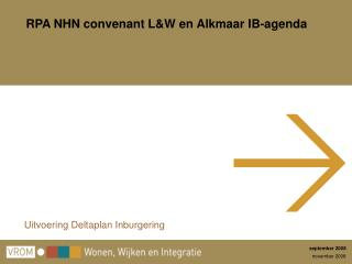 RPA NHN convenant L&W en Alkmaar IB-agenda
