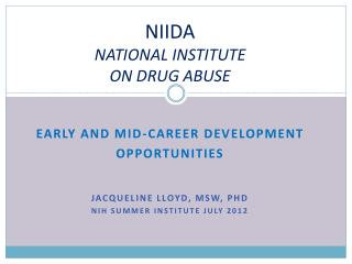 NIIDA  NATIONAL  INSTITUTE ON DRUG ABUSE