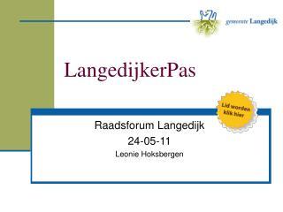 LangedijkerPas