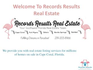 RecordsResults RealEstate