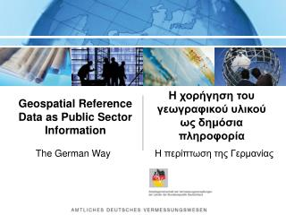 Geospatial Reference Dataas Public Sector Information