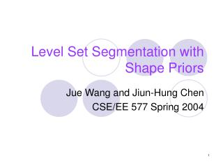 Level Set Segmentation with Shape Priors