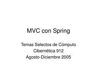 MVC con Spring
