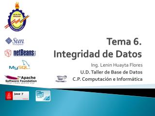 Tema 6.  Integridad de Datos