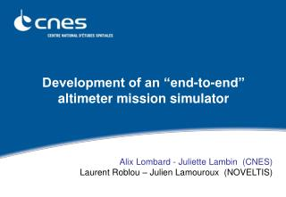 """Development of an """"end-to-end"""" altimeter mission simulator"""