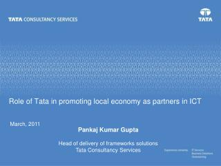 Role of Tata in promoting local economy as partners in ICT