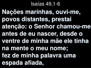 Isaías 49,1-6