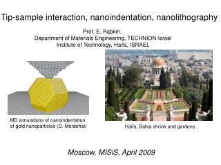Tip-sample interaction, nanoindentation, nanolithography