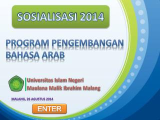 PROGRAM PENGEMBANGAN BAHASA ARAB