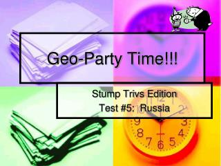 Geo-Party Time!!!