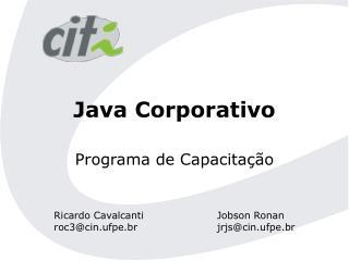 Java Corporativo