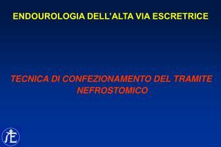ENDOUROLOGIA DELL'ALTA VIA ESCRETRICE TECNICA DI CONFEZIONAMENTO DEL TRAMITE  NEFROSTOMICO