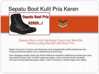 Sepatu Boot Kulit Pria Keren