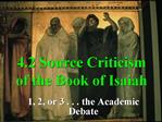 4.2 Source Criticism of the Book of Isaiah