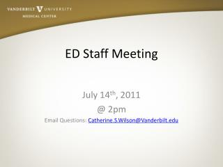 ED Staff Meeting