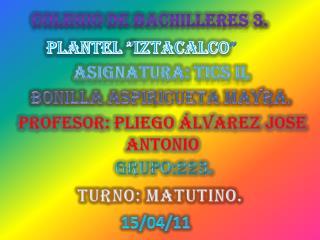 COLEGIO DE BACHILLERES 3.