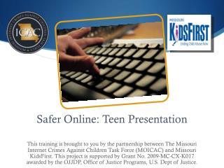 Safer Online: Teen Presentation