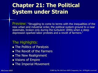 Chapter 21: The Political System under Strain