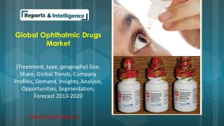 R&I: Global Ophthalmic Drugs Market (Treatment, type, geogra