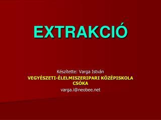 EXTRAKCIÓ