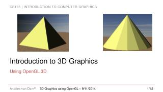 Introduction to 3D Graphics