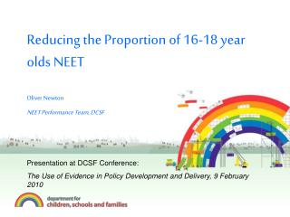 Reducing the Proportion of 16-18 year olds NEET Oliver Newton NEET Performance Team, DCSF