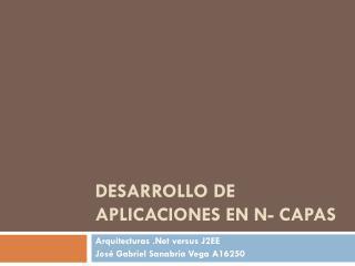 Desarrollo de aplicaciones en n- capas