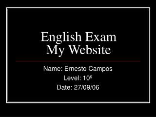 English Exam My Website