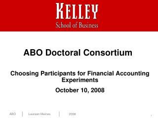 ABO Doctoral Consortium