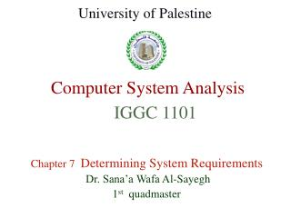 Computer System Analysis