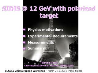 SIDIS @ 12  GeV  with polarized target