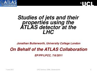 Studies of jets and their properties using the ATLAS detector at the LHC
