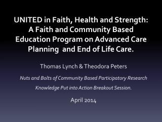 Thomas Lynch & Theodora Peters