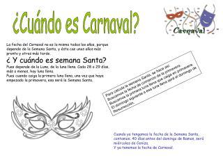 ¿Cuándo es Carnaval?